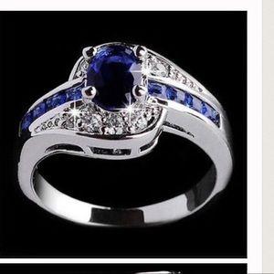 Jewelry - Blue & White Sapphire CZ Ring